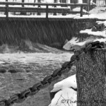 Ängelsbergs bruk i snöblandat regn
